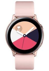 SAMSUNG - Samsung smartwatch Galaxy Watch Active, różowo-złoty (SM-R500NZDAXEZ). Rodzaj zegarka: smartwatch. Kolor: wielokolorowy, różowy, żółty. Styl: elegancki
