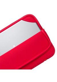 Czerwone etui na laptopa RIVACASE w kolorowe wzory