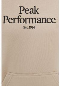 Peak Performance - Bluza. Okazja: na co dzień. Kolor: beżowy. Długość rękawa: długi rękaw. Długość: długie. Styl: casual