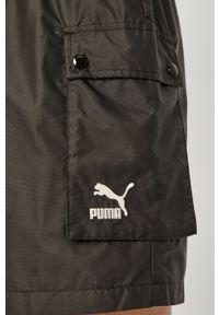 Czarna spódnica Puma na co dzień, gładkie, casualowa