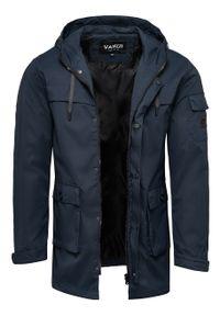 Niebieska kurtka Recea klasyczna, z kapturem