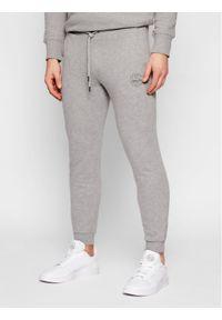 Jack & Jones - Jack&Jones Spodnie dresowe Gordon 12165322 Szary Regular Fit. Kolor: szary. Materiał: dresówka