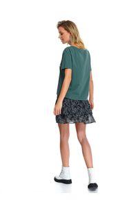 Zielony t-shirt TOP SECRET na wiosnę, na co dzień