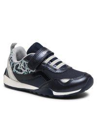 Geox - Sneakersy GEOX - J Jocker Pl.G.A J15AUA 010AJ C0673 S Navy/Silver. Okazja: na spacer. Zapięcie: rzepy. Kolor: niebieski. Materiał: skóra, materiał. Szerokość cholewki: normalna