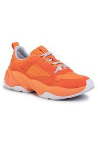 Pomarańczowe buty sportowe Marc O'Polo