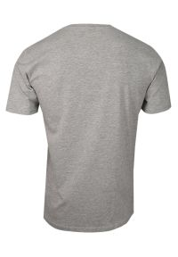 Szary t-shirt Pako Jeans na co dzień, casualowy, z dekoltem w serek