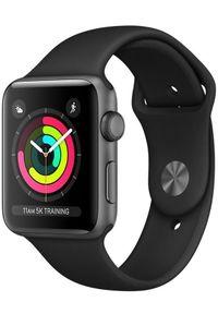 Apple Refurbished smartwatch Watch Series 3, 38mm Space Gray Aluminium Case with Black Sport Band. Rodzaj zegarka: smartwatch. Kolor: wielokolorowy, czarny, szary. Styl: sportowy