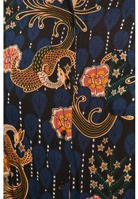 Niebieska koszula Scotch & Soda długa, w kwiaty, casualowa, z klasycznym kołnierzykiem