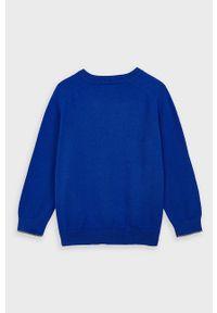 Niebieski sweter Mayoral casualowy, raglanowy rękaw, na co dzień, z okrągłym kołnierzem