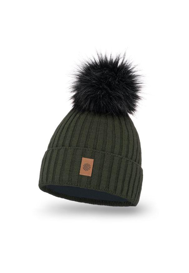 Brązowa czapka zimowa PaMaMi