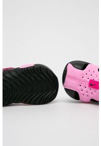 Fioletowe sandały Nike Kids na rzepy, z okrągłym noskiem