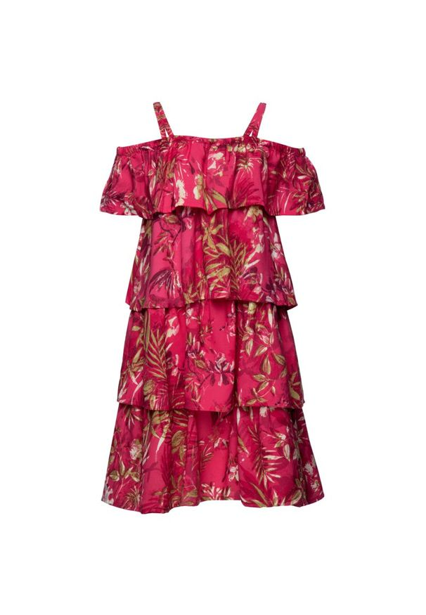 Różowa sukienka Primigi na co dzień, prosta, casualowa