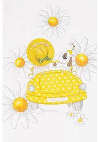 Żółta sukienka Mayoral z nadrukiem, na ramiączkach