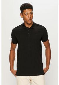 Czarna koszulka polo Premium by Jack&Jones polo, casualowa, krótka
