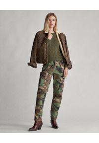 Ralph Lauren - RALPH LAUREN - Damskie spodnie moro. Okazja: na co dzień. Kolor: zielony. Wzór: moro. Styl: klasyczny, militarny, casual