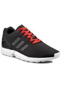 Czarne półbuty Adidas z paskami, na lato