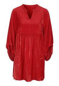 Czerwona tunika Cellbes elegancka, ze stójką