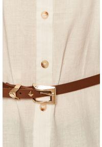 Biała koszula Haily's casualowa, na co dzień, długa, z klasycznym kołnierzykiem