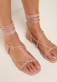 Renee - Różowe Sandały Ohirora. Kolor: różowy