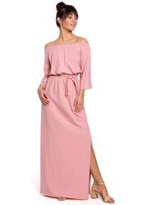 Różowa sukienka wizytowa MOE maxi