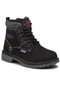 Czarne buty zimowe Lee Cooper z aplikacjami
