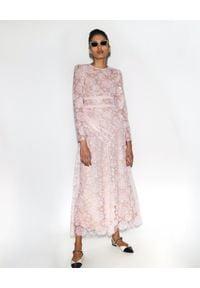 SELF PORTRAIT - Koronkowa sukienka maxi. Okazja: na komunię. Kolor: wielokolorowy, różowy, fioletowy. Materiał: koronka. Wzór: ażurowy, koronka. Typ sukienki: dopasowane. Styl: klasyczny, wizytowy. Długość: maxi
