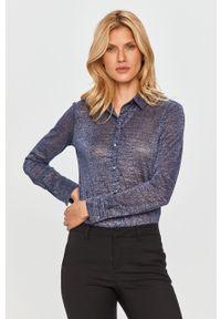 Niebieska koszula MAX&Co. klasyczna, na co dzień, długa, z klasycznym kołnierzykiem