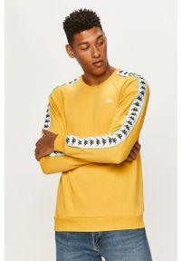 Żółta bluza nierozpinana Kappa raglanowy rękaw, z aplikacjami