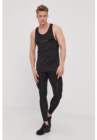 Czarny t-shirt Calvin Klein Performance bez rękawów, z nadrukiem
