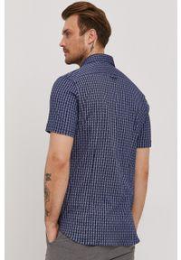 Baldessarini - Koszula. Typ kołnierza: kołnierzyk klasyczny. Kolor: niebieski. Materiał: włókno, materiał, tkanina, dzianina, bawełna. Długość rękawa: krótki rękaw. Długość: krótkie. Styl: klasyczny #2