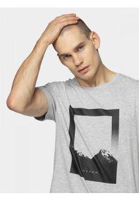 Szary t-shirt outhorn melanż