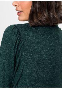 Zielona sukienka bonprix midi, melanż