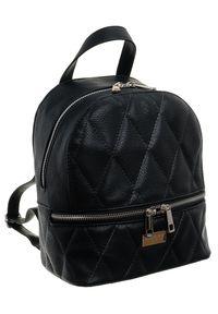 Plecak damski czarny Badura T_D043CZ_CD. Kolor: czarny. Materiał: skóra ekologiczna. Styl: elegancki