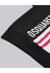 DSQUARED2 KIDS - Kolorowa bluza z nadrukiem 4-16 lat. Kolor: czarny. Materiał: bawełna. Długość rękawa: długi rękaw. Długość: długie. Wzór: nadruk, kolorowy. Sezon: lato