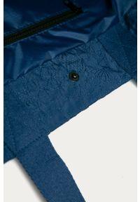 Niebieska shopperka Desigual gładkie, duża, na ramię