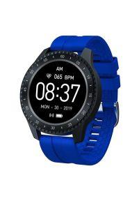Niebieski zegarek GARETT smartwatch, sportowy