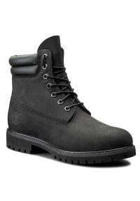 Czarne buty zimowe Timberland z cholewką