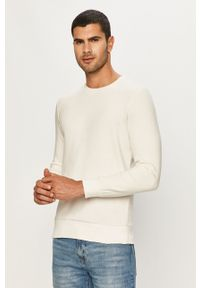 Biała bluza nierozpinana Brave Soul casualowa, bez kaptura