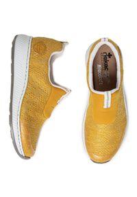 Rieker - Sneakersy RIEKER - N5595-68 Gelb. Okazja: na co dzień. Kolor: żółty. Materiał: materiał. Szerokość cholewki: normalna. Sezon: lato. Styl: casual