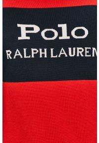 Czerwony sweter Polo Ralph Lauren polo, casualowy, na co dzień
