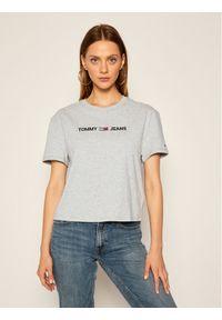 Tommy Jeans T-Shirt Tjw Modern Linear Logo DW0DW08615 Szary Relaxed Fit. Kolor: szary