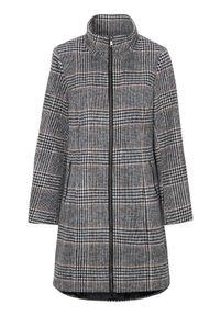 Cellbes Klasyczny płaszcz z mieszanki wełny w kratkę female ze wzorem 54/56. Materiał: wełna. Wzór: kratka. Styl: klasyczny