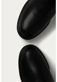 Czarne botki Answear Lab na zamek, wakacyjne, z cholewką
