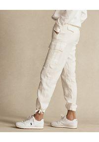 Ralph Lauren - RALPH LAUREN - Kremowe spodnie cargo. Kolor: beżowy. Materiał: tkanina #5
