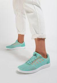Miętowe buty sportowe Renee do biegania