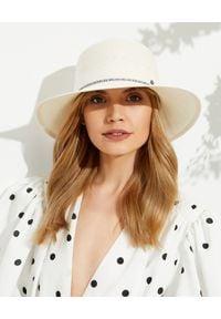 MAISON MICHEL PARIS - Beżowy kapelusz New Kendall. Kolor: beżowy. Materiał: materiał. Wzór: nadruk, aplikacja. Sezon: lato. Styl: klasyczny