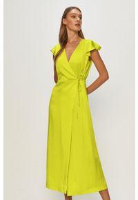 Sukienka TwinSet gładkie, maxi, rozkloszowana
