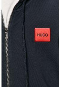 Niebieska bluza rozpinana Hugo z kapturem, na co dzień