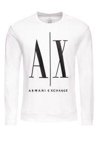 Armani Exchange Bluza 8NZMPA ZJ1ZZ 1100 Biały Regular Fit. Kolor: biały
