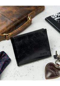 ROVICKY - Portfel męski czarny Rovicky N1905-RVTK BLACK. Kolor: czarny. Materiał: skóra